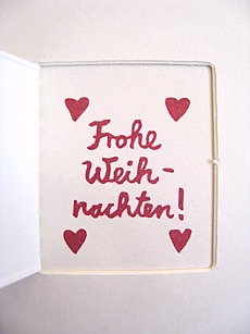 Frohe Weihnachten Herz.Postkarten